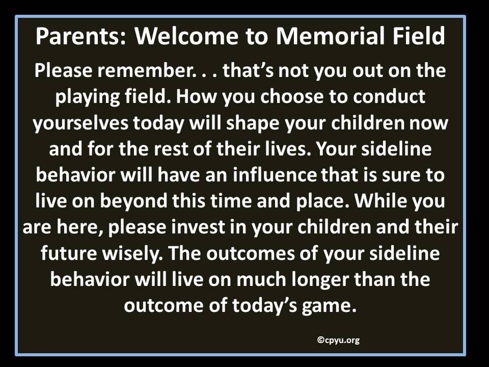 Memorial Field sign